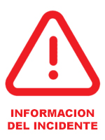 Informacion del Incidente