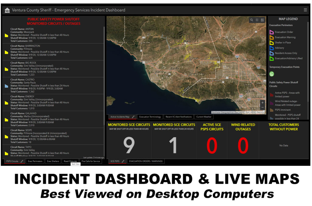 Incident Dashboard and Live Maps
